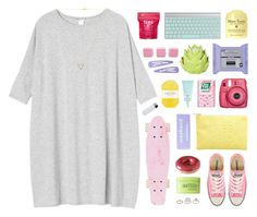 """""""your heart's too big for your body"""" by via-m ❤ liked on Polyvore featuring Monki, Me! Bath, Miss Selfridge, KORA Organics by Miranda Kerr, claire's, Zara Home, Converse, ME Bath, Rodial and Pelle"""