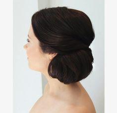 Wedding side bun look