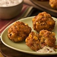 Comfort Food From Louisiana: New Orleans Chef Recipe: Crabmeat-Shrimp Fritters, Creole Tomato Dressing