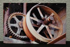 Signed Digital Photo Urbex Old Barn Abandoned Mill Gears Rusty Dusty Steampunk Surreal Dark Jewel Tones Art by LadyAlchemy13 on Etsy, $16.00