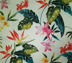 Tropical Shower Curtain Tropical Wildflowers  Tropical Shower Curtain