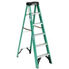6 Ft Fiberglass Step Ladder 10 Ft Reach 225 Lb Load Capacity Duty Rating Type II | Home & Garden, Tools, Ladders | eBay!