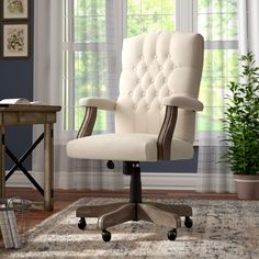 Wayfair.ca - Online Home Store for Furniture, Decor, Outdoors & More | Executive Office Chairs, Home Office Chairs, Home Office Decor, Home Decor, Farmhouse Office Chairs, Office With Sofa, Shabby Chic Office Chair, Counseling Office Decor, Therapist Office Decor