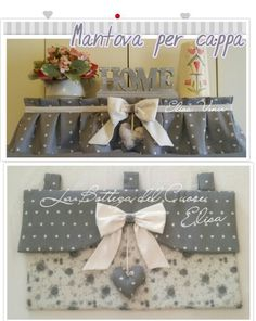 Copriforno con mantovana abbinata Sewing Projects, Projects To Try, Fabric Crafts, Embroidery Patterns, Diy And Crafts, Kitchen Decor, Creations, Sweet Home, Shabby Chic