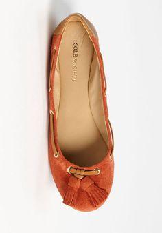 Rust Tassel Flats / i need another good pair o' flats :^(