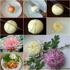 Beautiful Onion Chrysanthemum #diy #food