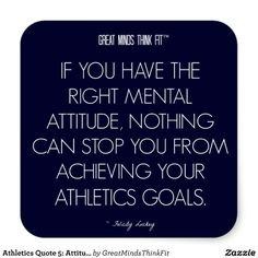 #Athletics #Quote 5: Attitude for Success #Sticker