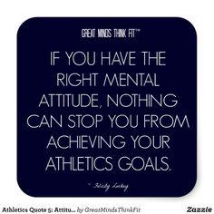 #Athletics #Quote 5: Attitude for Success #Sticker