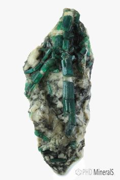 Emerald from Brazil. Like us on Facebook for more fine minerals picture updates. http://www.facebook.com/phdminerals