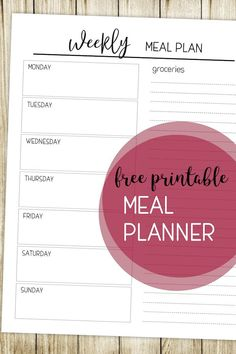 Printable Meal Planning Template – Paper Trail Design – Famous Last Words