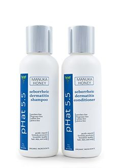 Seborrheic Dermatitis Shampoo and Conditioner Set  Best Scalp Treatment Natural Organic Ingredients for Cleansing Hair by pHat 55  Also for Seborrheic Keratosis 4 oz -- Check out this great product.(This is an Amazon affiliate link and I receive a commission for the sales)