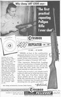 Crosman 400 Repeater Art Cook 1958 Ad Picture