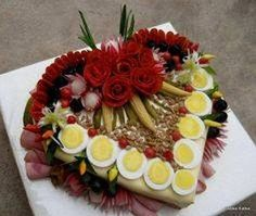 Decorative Salad images «knit home, baby knitting, knitting mode … – Kitchen Utensils Ideas Appetizer Recipes, Appetizers, Food Carving, Sandwich Cake, Food Garnishes, Valentines Food, Edible Arrangements, Food Displays, Food Decoration