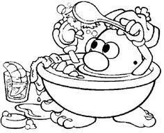 Mr Potato Head Coloring Pages 40 Free Printable Coloring Pages