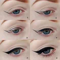 The most important part of the eye makeup is Eyeliner. It would not be wrong to say that eyeliner in fact complete the overall makeup looks. Diy Beauty Hacks, Beauty Hacks For Teens, Makeup Hacks, Makeup Ideas, Beauty Tricks, Makeup Trends, Beauty Ideas, Beauty Advice, Beauty Tutorials