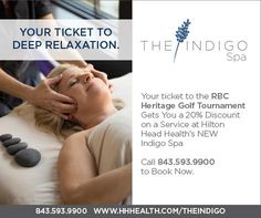 Headed to @hiltonheadsc for The Heritage Golf Tournament? Be sure to unwind with some #spa time at The Indigo spa.