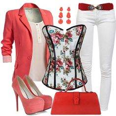 These outfits are fine without a corset top .but it adds something nice Look Fashion, Fashion Outfits, Womens Fashion, Fashion Trends, Classy Outfits, Stylish Outfits, Corset Outfit, Mode Style, Spring Outfits