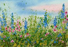 How to Create splattered paint flower art-no drawing required-myflowerjournal.com