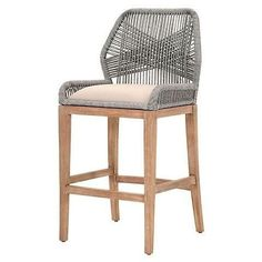 Love this fresh, modern take on counter stool style.