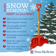 Before You Shovel Snow, Know the Signs of Heart Attack | Penn Heart and Vascular Update | Penn Medicine