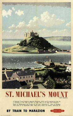 CORNWALL - ST. MICHAEL'S MOUNT by RONALD LAMPITT (1906-1988)