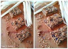 Make it healthy: Prhki zobeno-integralni prutići sa džemom od šljiva / Wholegrain oat energy bars with plum jam
