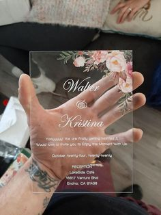 boho blush floral Acrylic wedding invitation thickness with UV printing as low as Wedding Goals, Boho Wedding, Fall Wedding, Rustic Wedding, Wedding Planning, Dream Wedding, Wedding Ideas, Wedding Rings, Floral Wedding