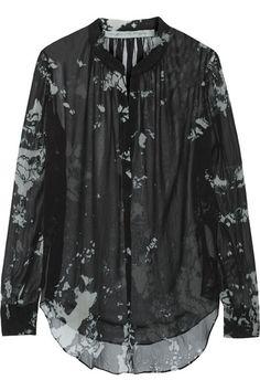 Raquel Allegra - Tie-dyed silk chiffon blouse