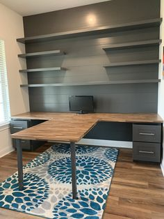 The office: T-shaped desk # bedroom table - # shaped # bedroom . - The office: T-shaped desk table – # bedroom table desk – - Craft Room Office, Decor, Office Crafts, Home Office Design, Home Office Decor, Craft Room Design, Home Remodeling, Home Projects, Home Decor