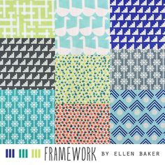 Framework fabric collection by Ellen Baker for Kokka.