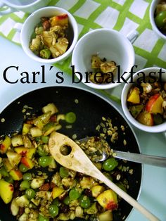 TynaTyna: Carl´s breakfast Kung Pao Chicken, Homemade, Breakfast, Ethnic Recipes, Food, Hoods, Diy Crafts, Meals, Do It Yourself