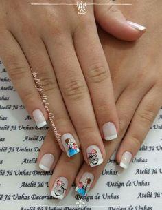 Unhas românticas passo a passo Cute Nail Art Designs, Gel Nail Designs, Beads And Wire, Nail Arts, Nails Inspiration, Summer Nails, Cute Nails, Nail Colors, Gel Nails
