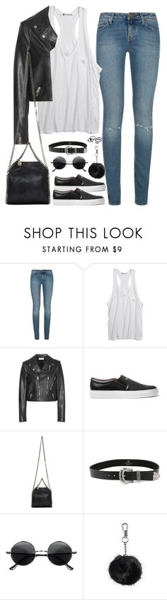 """""""Untitled#4231"""" by fashionnfacts ❤ liked on Polyvore featuring Yves Saint Laurent, Alexander Wang, Givenchy, STELLA McCARTNEY, B-Low the Belt, Retrò and Topshop"""