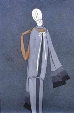 Silhouette Bleu. 1926. © Patrimoine Lanvin. #Lanvin125