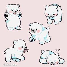 "witchpaws: "" I opened up photoshop, and polar bears happened! ^-^ """