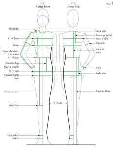 Guidelines for all body measurements for sewing clothes Sewing Lessons, Sewing Hacks, Sewing Tutorials, Sewing Patterns, Sewing Tips, Sewing School, Sewing Class, Techniques Couture, Sewing Techniques