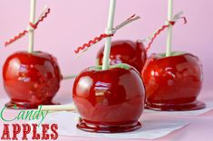 Perfect, FOOL PROOF Candy Apple Recipe!!  You can't mess these up!!