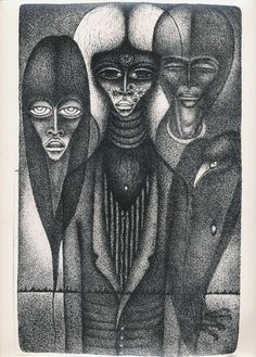 Drawing by Vali Myers, image from the book Love on the Left Bank by Ed Van Der Elsken.