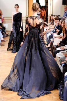 Zuhair Murad what a way to exit a room!  amazing black gown!