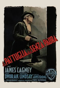 RETRO MOVIE POSTER for G-Men James Cagney Poster by EncorePrintSociety