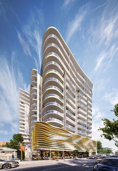 50 Little Edwards St Tower Architectural 3D Render