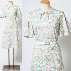 60s Dress Mad Men Dress Vintage Green by TrendyHipBuysVintage