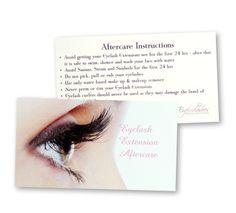 aftercare eyelash cards