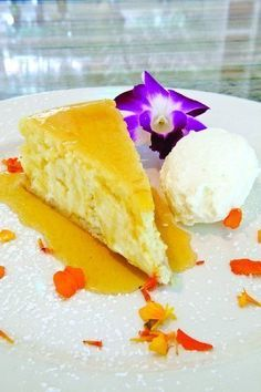 The tropical flavoring in this dessert from Mike's on the Avenue is passion fruit. Mike's on the Avenue chef Mike Fennelly was awarded a silver medal in the dessert category for this cheesecake made with passion fruit puree and...