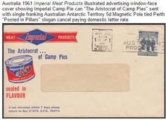 a 'camp pie' producers business envelope 1961