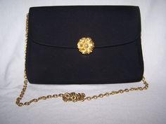 Vintage 1960's Lester Bags Of NY Black by VintageNoirBoutique, $15.00