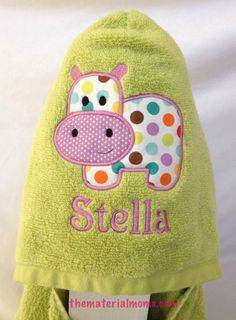 Baby Disciplined Personalized Pink Elephant Hooded Towel