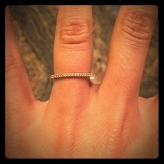 """Silpada """"Perfection"""" Ring! Sterling silver and micropave cubic zirconia """"Perfection"""" ring from Silpada. Size 6. Like new, used only for display. Beautiful, dainty ring for every day wear! Comes with Silpada box! Silpada Jewelry Rings"""