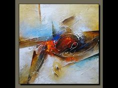 Acrylic abstract painting # How to texture canvas with Gesso # EASY demonstration - YouTube