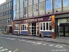 The Central Bar - Cardiff. Handy for Queen Street station and always full for breakfasts. It has an upstairs too and the toilets are deep underground.